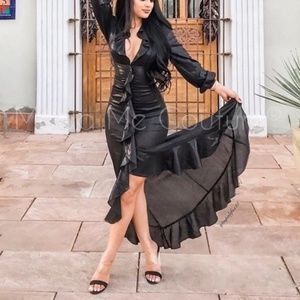 OPHELIA Black Metallic Gown